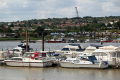 Harbour yachts Stock Image