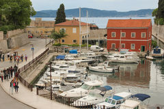 Harbour. Zadar. Croatia. Stock Images