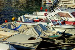 Harboured Fishing Boats Royalty Free Stock Image