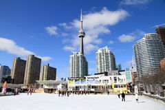 Skating at the Harbourfront Centre in Toronto Royalty Free Stock Photo