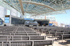 Toronto Harbourfront Centre Amphitheater. Harbourfront Centre works with 450 organizations and hosts more than 4,000 events a year Stock Images