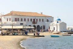 Harbourfront Mykonos Obrazy Stock