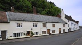Harbourside cottages Stock Image