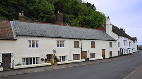Harbourside cottages. At Minehead Old Harbour, Somerset Stock Image
