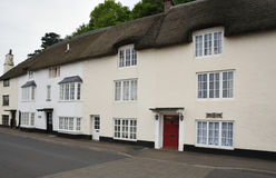 Harbourside cottages. Thatched Harbourside cottages at Minehead Old Harbour, Somerset Royalty Free Stock Photo
