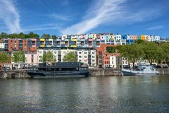 Floating harbour in Bristol royalty free stock images