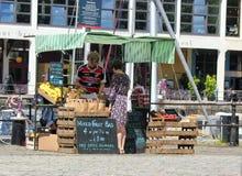 Harbourside sprzedawcy ulicznego Bristol doki fotografia royalty free
