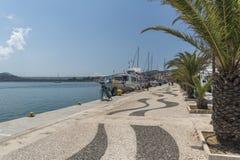 Harbousideweg Argostoli Kefalonia Stock Foto