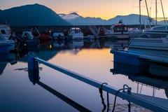 Harbur al tramonto Fotografie Stock Libere da Diritti