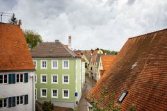Harburg, ένα γοητευτικό χωριό στο ρομαντικό δρόμο Βαυαρία Γερμανία στοκ φωτογραφία