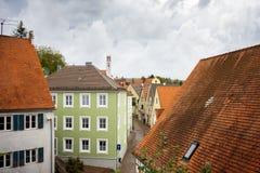 Harburg, powabna wioska na Romantycznej drodze bawaria German fotografia stock