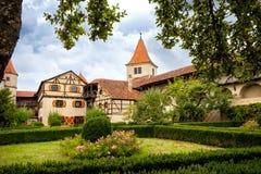 """Harburg - une partie de l'intérieur du château de Harburg en Bavière, c'est une pièce de l'itinéraire scénique appelé """"la route r photo stock"""