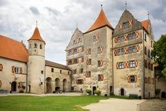 """Harburg - une partie de l'intérieur du château de Harburg en Bavière, c'est une pièce de l'itinéraire scénique appelé """"la route r images stock"""