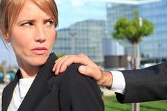Harcèlement sexuel image libre de droits