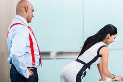 Harcèlement sexuel sur le lieu de travail image libre de droits