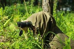Harcerz w lesie Obraz Royalty Free