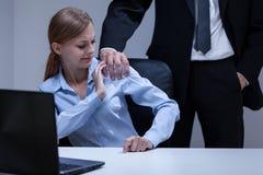 Harcèlement sexuel dans le bureau Images libres de droits