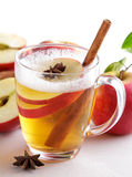 Hard apple cider with cinnamon stick Royalty Free Stock Image
