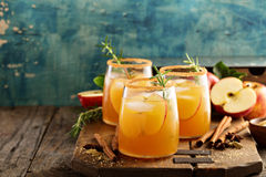 Hard Apple Cider Cocktail With Fall Spices Stock Photos