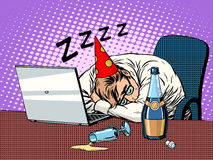 Hard birthday party Stock Images