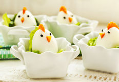 Hard boiled Chicken Egg Family Royalty Free Stock Photos