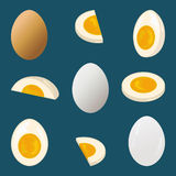 Hard-boiled egg Stock Photos
