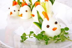 Hard Boiled Egg Chicken Family Stock Photos