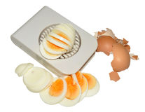 Hard Boiled Egg And Cutter Stock Photos