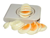 Hard Boiled Egg And Cutter Stock Images