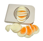 Hard Boiled Egg And Cutter Royalty Free Stock Photos