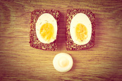 Hard boiled egg sandwich Stock Photography
