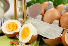 Hard Boiled Eggs Stock Images