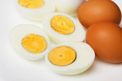 Hard boiled eggs Royalty Free Stock Photo