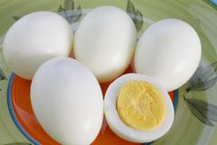 Hard-boiled eggs Royalty Free Stock Photo