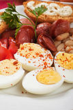 Hard boiled eggs Royalty Free Stock Photography