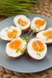 Hard- boiled eggs Stock Photo