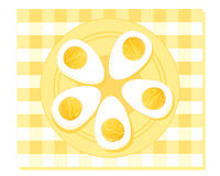 Hard boiled eggs Stock Image