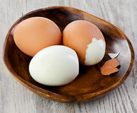Hard boiled eggs Stock Photos