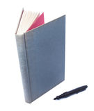 Hard book. Gray book on white background Royalty Free Stock Images