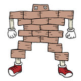 Hard brick character Stock Image