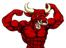 Hard Bull Sports Mascot Royalty Free Stock Photography