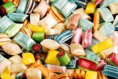 Hard candies background Royalty Free Stock Photo