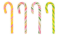 Hard candy canes over white Stock Images