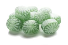 Hard candies over white background. Hard candy sweets shot over white background Royalty Free Stock Photos