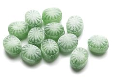 Hard candies over white background. Hard candy sweets shot over white background Stock Images