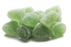 Hard candies over white background. Hard candy sweets shot over white background Stock Photo
