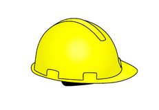 Hard cap yellow Royalty Free Stock Photo