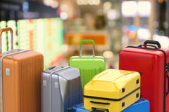 Hard case colorful luggages Royalty Free Stock Image