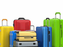 Hard case colorful luggages Royalty Free Stock Photos