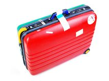 Hard case luggage Stock Photo